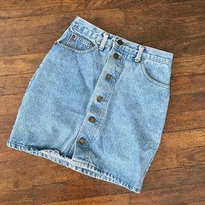 Dresses & Skirts - Medium Wash Denim Button Skirt